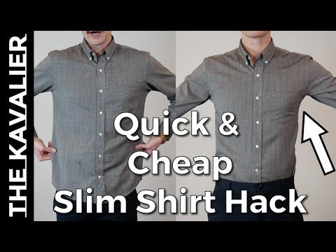 Slim Your Shirts Without Sewing or a Tailor - ZipSeam Review