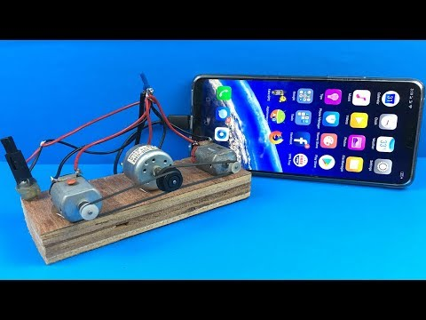 You Can Charge Your Mobile Phone Using Piezo Lgniter With DC Motors - 100% Free Energy Generator