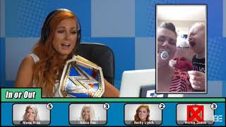 Mickie,Alicia🤮,Becky,and I on Fine Bros Channel.