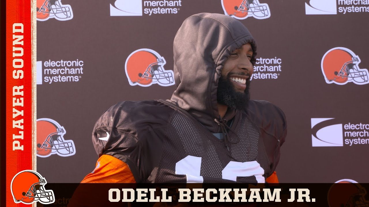 best authentic 9d9ab 7e95e OBJ Improving Synergy w/ Baker & Giving 110% at Practice | Browns Player  Sound