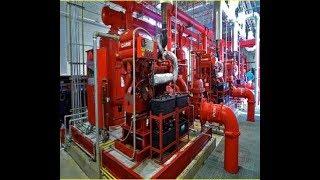 غرف الطلمبات او المضخات اى شبكة حريق .. fire fighting pump room