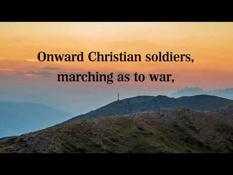 Onward Christian Soldiers: lyric video, hymn sing-along with free piano sheet music
