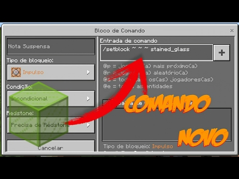 COMANDO DO VIDRO COLORIDOS NO MINECRAFT POCKET EDITION 11