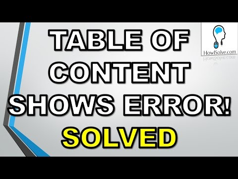 Solved:Error Bookmark Not Defined[Microsoft Word]