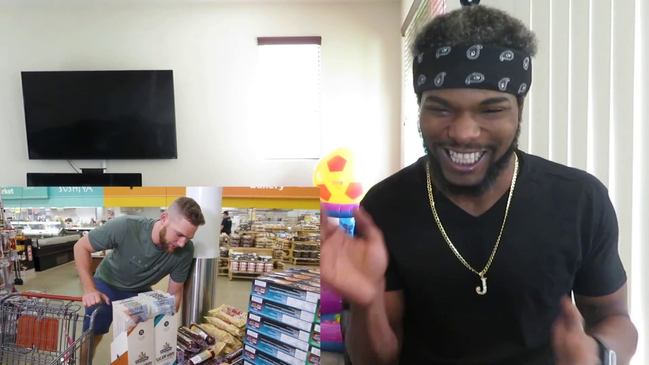 Grocery Store Stereotypes Reaction!! (Dude Perfect gone crazy!!) - YouTube