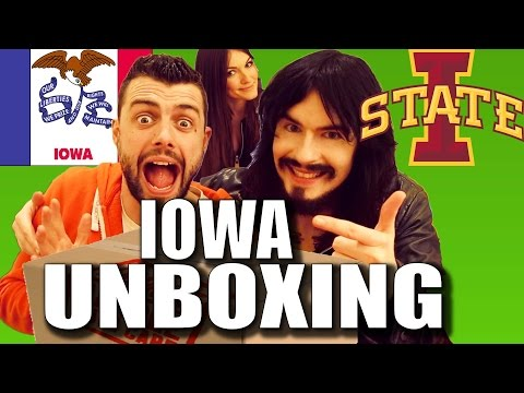 Irish People Taste Test 'IOWA' - American Care Package UnBoxing!!