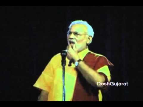 Narendra Modi's first 3D holographic projection speech in Ahmedabad, Gujarat