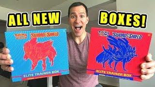 *NEW POKEMON CARDS ZACIAN AND ZAMAZENTA BOX!* Opening SWORD AND SHIELD Elite Trainer Boxes!