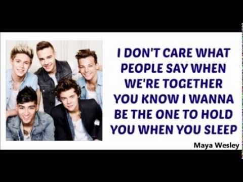 One Direction - Happily (Lyrics and Pictures) (Album Midnight Memories)
