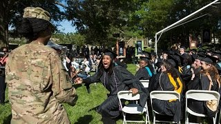 Moment soldier from Afghanistan surprised her veteran mom at college graduation