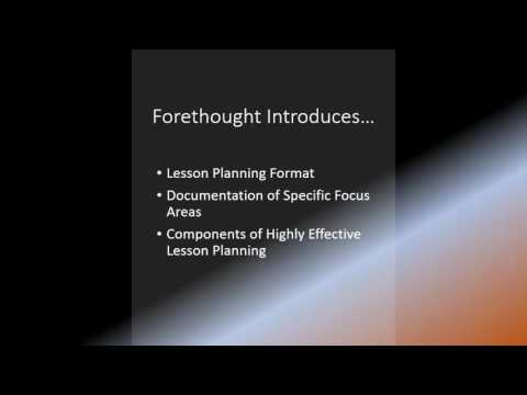 Video 1 Purpose   Brief Introduction of Eduphoria Forethought