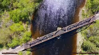 Autel Evo II trip around a Railroad Bridge.