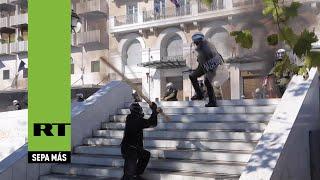 Violentos enfrentamientos entre Policía y manifestantes en la huelga general en Grecia