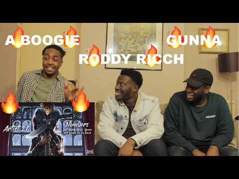 A Boogie Wit da Hoodie - Numbers feat. Roddy Ricch, Gunna & London On Da Track (REACTION)
