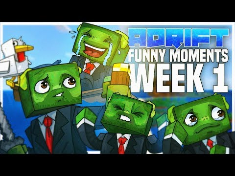 Minecraft: ADRIFT - FUNNY MOMENTS #1