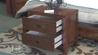 Walnut Finished Bedroom Set with Platform Bed, Samantha Collection by Coaster Furniture