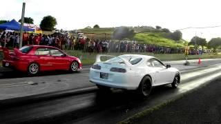 """Do the Maths"" Crazy Toyota Supra vs Yousef Mitsubishi Evolution 9"