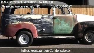 1953 Chevrolet Suburban Carry All for sale in Nationwide, NC #VNclassics