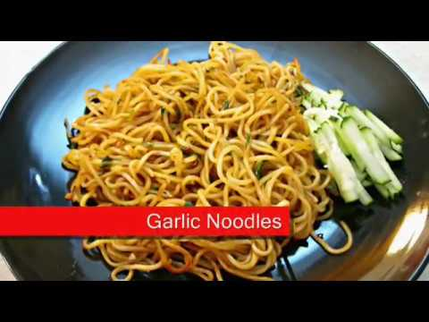 Garlic Noodles - Chinese Pan Fried Soft Noodle recipe - PoorMansGourmet