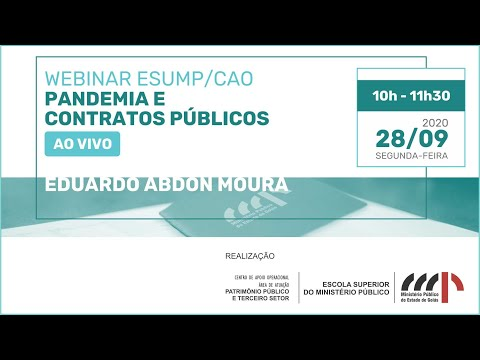 [WEBINAR] Pandemia e contratos públicos