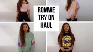 ROMWE TRY ON HAUL // clothing haul + review