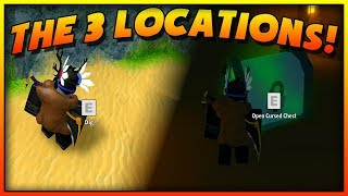 THE 3 MAP LOCATIONS ON HOW TO GET THE GOLDEN KEY FOR THE CURSED CHEST IN MAD CITY! (ROBLOX)