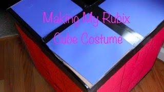 Making My Rubix Cube Costume