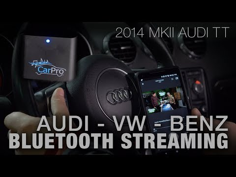 Bluetooth Streaming for Audi, VW, Benz - Music streaming with CoolStream CarPro - 2014 MKII Audi TT