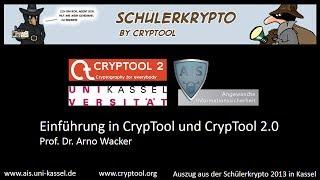 Einführung in das Lehrprogramm für Kryptologie: CrypTool