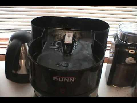 Bunn coffee maker problem followup - YouTube
