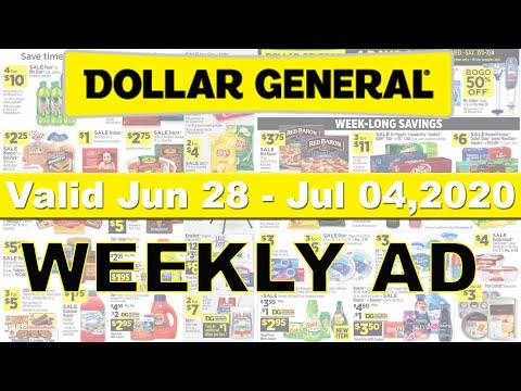 Dollar General Ad Jun 28,2020   Dollar General Weekly Ad 4 Day Only Bogo   DG Ad Week Saving Deals