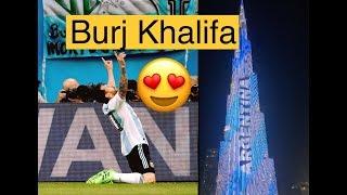 Argentina Win Celebration 😍Burj Khalifa