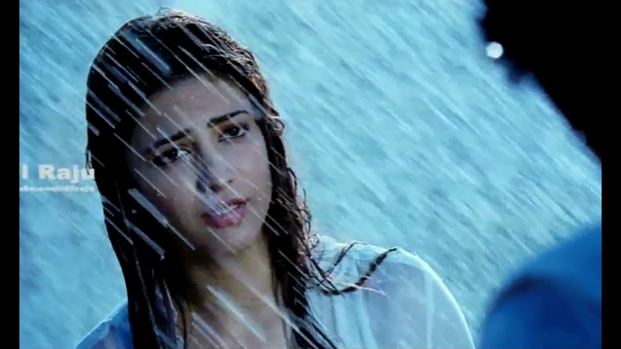 ramayya vasthavayya telugu movie scenes - shruti hassan rain scene