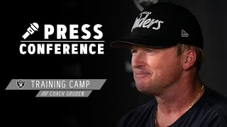 Coach Gruden on Competition at Camp, Maxx Crosby's Leadership | Las Vegas Raiders