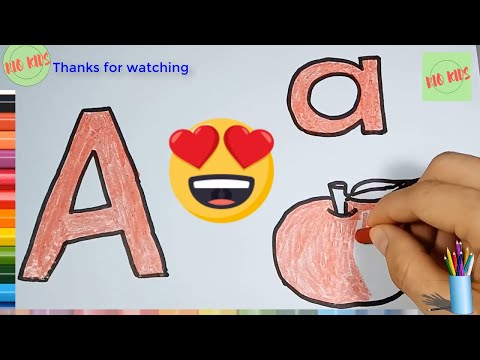Draw and color letter A with Rio kids🎨Learn simple alphabet💖Rio Kids
