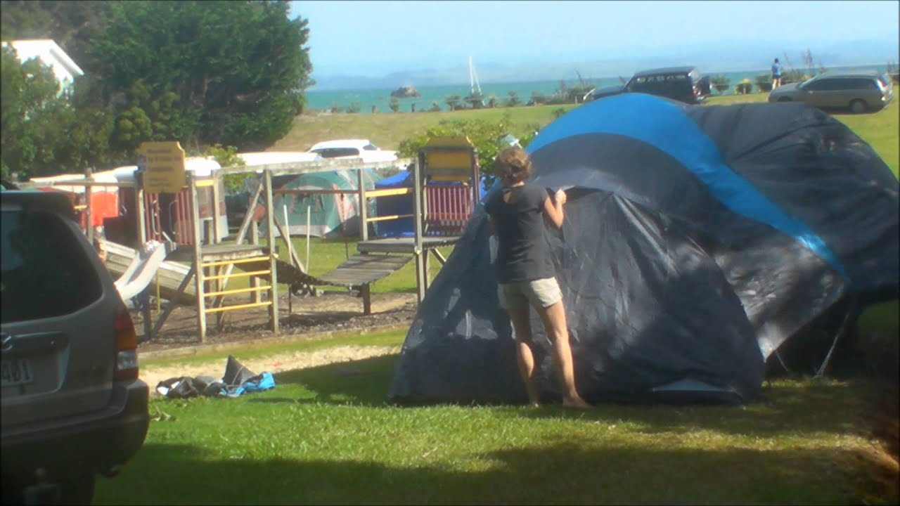 Time lapse whilst erecting a tent at Whatuwhiwhi Northland New Zealand & Time lapse whilst erecting a tent at Whatuwhiwhi Northland New ...