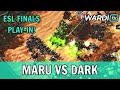 Maru vs Dark - ESL Season Finals Play-In BO5 (TvZ)