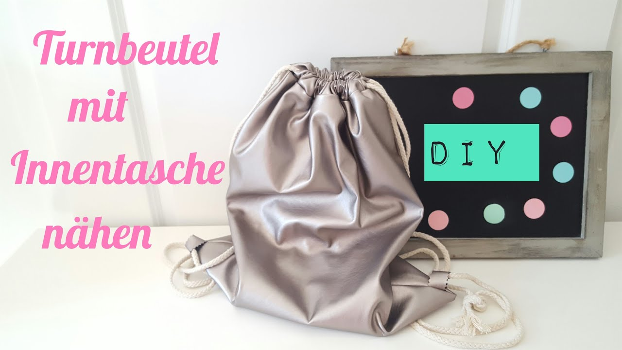 diy turnbeutel rucksack mit innenbeutel selber n hen diy kajuete youtube. Black Bedroom Furniture Sets. Home Design Ideas