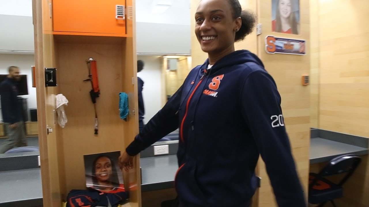 Syracuse University Women S Basketball Brittney Sykes Gives Tour Of