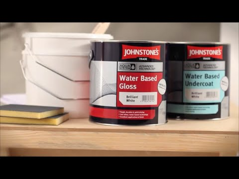 Johnstone's Trade Paints Aqua Undercoat, Satin and Gloss