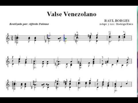 Partitura vals venezolano de raul borges para guitarra for Partituras guitarra clasica