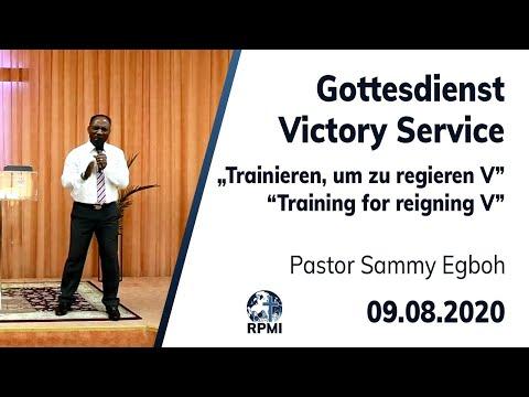 """RPMI-Gottesdienst - Livestream vom 09.08.2020 - Pastor Sammy Egboh """"Trainieren, um zu regieren V"""""""