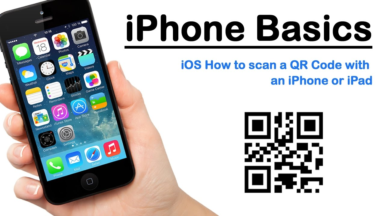 how to scan qr code with iphone iphone basics ios how to scan a qr code with an iphone 3185
