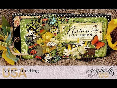 Graphic 45 Nature Sketchbook Tag & Policy Envelope Mini
