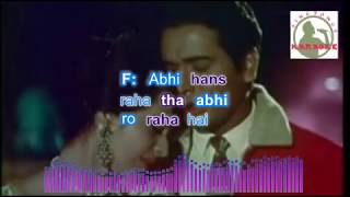 TUJHE PYAR KARTE HAIN hindi karaoke for Male singers with lyrics