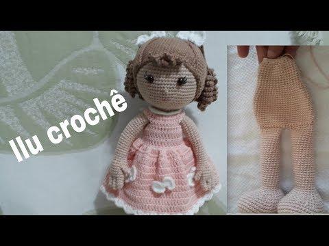 Receita escrita boneca Lulu amigurumi   Bonecas de croche ...   360x480