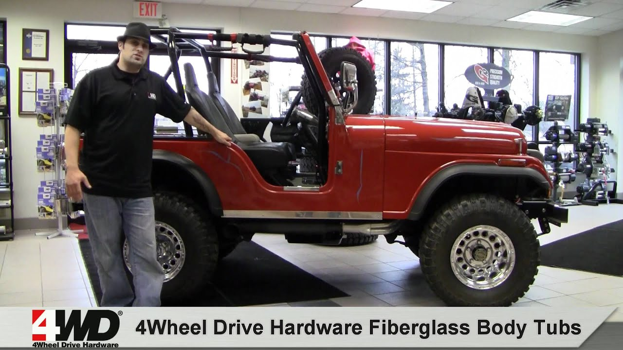 Jeep Cj7 Parts >> 4WD Fiberglass Body Tubs - YouTube