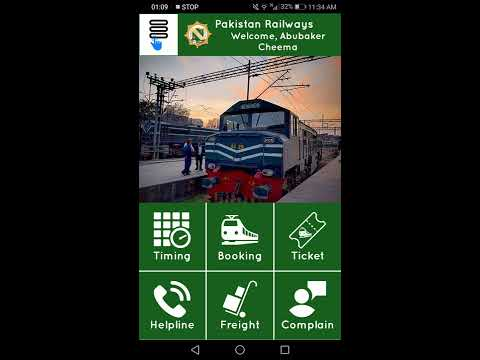 How to use App of Pakistan Railways & booking online seat(E-ticketing)