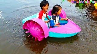 anak balita lucu bermain mainan anak odong odong air lucu - Kiddie Rides Toys