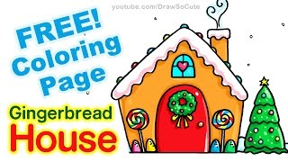 How to Draw a Gingerbread House step by step Easy